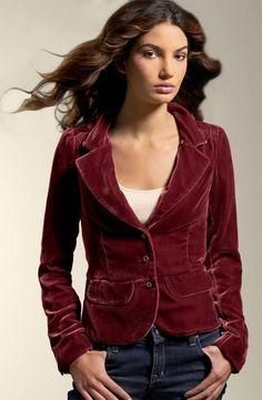 6289fd3c9c 6 - Vintage JUICY COUTURE Shrunken Velvet Jacket - Burgundy Red Orig. 298   JuicyCouture
