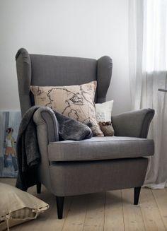strandmon wing chair nordvalla dark gray pinterest rockers 10