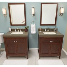 Ronbow 051730-3-E56 Briella 30 in. Double Bathroom Vanity Set Biscuit Broad Black - RON814-14