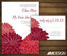 Shop for on Etsy, the place to express your creativity through the buying and selling of handmade and vintage goods. Printable Wedding Invitations, Wedding Stationary, Red Wedding, Wedding Day, Wedding Pinterest, Pinterest Board, Wedding Ideas Board, Grad Parties, Anniversary Parties