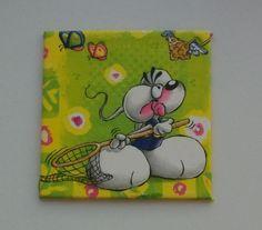 """Wandbild Kinder """"Diddl""""  Serviettentechnik    von Belinda auf DaWanda.com"""
