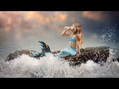 Relaxing Night Music💖Relaxing Chill Out Music #sleep music - YouTube Photography Lessons, Creative Photography, Children Photography, Fairy Photography, Conceptual Photography, Photography Ideas, Mermaid Photo Shoot, Mermaid Pictures, Mermaid Kids
