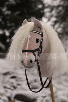 Such a sweet face Hobby Horse, Horse Tack, Horse Galloping, Stick Horses, Horse Crafts, Horse Stuff, Wall Mount, Barn, Disney