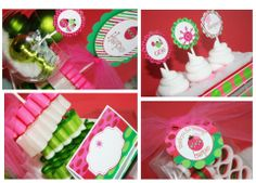 Winter ONEderland Birthday Party Package Hot Pink and Green - Assembled and Personalized - Grinch Inspired Colors. $137.50, via Etsy.