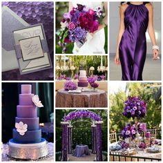 Burgh Brides Color Palette Inspiration - Shades of Purple