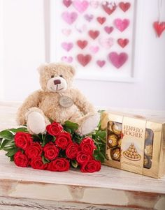 Red Roses, a Teddy & Chocolates for Valentine's Day!