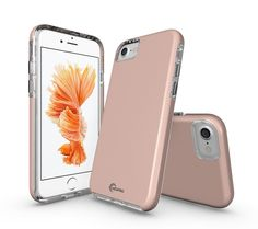 iPhone 7 Case, MOPRO [Heavy Duty Strength] Flexible Durability, Durable Anti-Slip, TPU Defensive Case for Apple iPhone 7 - Rose Gold. EXECUTIVE ARMOR: DESIGN New specially designed look featuring rigid tough and alternating black pattern for added impact dispersing protection for the Apple iPhone 7 2016. TACTICLE FEEL: Flexible TPU combination with interior impact dispersion pattern and raised lip protects screen and camera. SLIM SHOCK: Slim, lightweight case provides Advanced Shock...