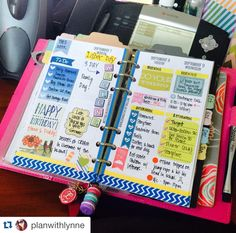First half of my vertical layout by #sewmuchcrafting in my #filofax! Find me on Instagram:  @planwithlynne and see more planner inspirations! #planwithlynne