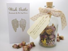 Wish Bottle  This Wish Bottle allows you to wish for anything you choose. Simply write your wishes on the scroll inside the bottle and then place