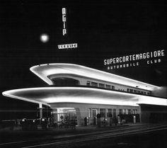 Stazione Agip P.le Accursio Milano #architettura #storia
