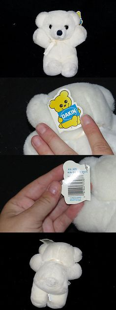 Dakin 63654: Dakin Cuddles Bear White Mini Teddy Plush Baby Toy Korea 8 Vintage 1985 Nwt -> BUY IT NOW ONLY: $34.99 on eBay!