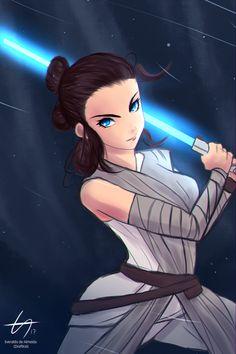Rey - Star Wars by el-everman on DeviantArt Rey Star Wars, Love Stars, Looks Great, Disney Characters, Fictional Characters, Sci Fi, Animation, Deviantart, Disney Princess