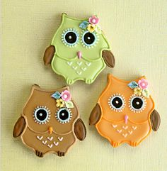 Fall Owl Cookies