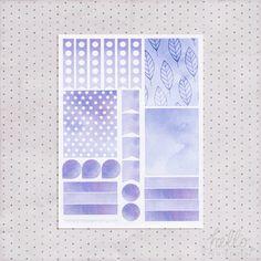 Watercolor planner sticker set  september by HelloPetitePaper