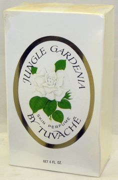 """VINTAGE Factory sealed 4 oz JUNGLE GARDENIA by TUVACHE SKIN PERFUME #Tuvache; this is a real vintage version, not a remake!   """"The best ones that I've found are the ones from earlier vintages called Pure Perfume or Skin Perfume. Also, I've had luck with the ones from Yardley of London - these are the bottles that say """"A fragrance of subtle intrigue"""" Anything newer than as this reviewer described is a knock-off. Gardenia Perfume, Perfume And Cologne, Brand Me, Seal, Bottles, Fragrance, Pure Products, London, Vintage"""