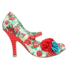 Cortesan Floral Bar in Red by Irregular Choice.