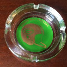 VINTAGE COLLECTABLE,1960s GREEN BAY PACKERS ASHTRAY OLD HELMET LOGO. #GreenBayPackers