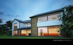 Contemporary makeover of house – Transform Architects – House Extension Ideas, Disabled Adaptations, Contemporary Residential Architects, House Renovation Ideas, Kitchen Extension Ideas Residential Architect, Exterior Makeover, Exterior Remodel, After Life, Modern Exterior, Bungalow Exterior, House Extensions, Facade House, Modern House Design