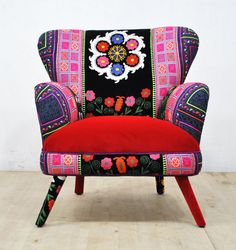 Hey, I found this really awesome Etsy listing at https://www.etsy.com/listing/460979100/suzani-armchair-red-sky