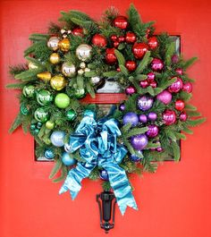 Another holiday favorite from a few years ago! I use this on my front door every year. Search 'rainbow wreath' on IBC for the tutorial. Happy Sunday! #IBCholiday by inspiredbycharm
