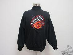 Vtg 90s Brandon Sports Chicago Bulls Crewneck Sweatshirt sz L Large SEWN Jordan #BrandonSportswear #ChicagoBulls #tcpkickz