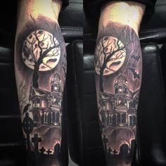40 Graveyard Tattoo Designs For Men – Tombstones And Earthy Ties Left Behind