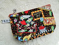 Cosmetic Case Bag Purse Pouch Tote  READY TO SHIP by CyndeesGarden