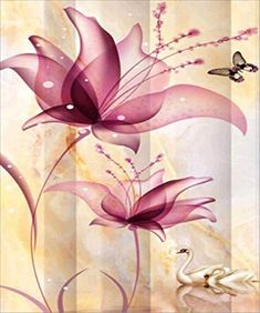 12X16inch Kaliosy 5D Diamond Painting Pink Peacock Flower by Number Kits Paint with Diamonds Art for Adults DIY Crystal Craft Full Drill Cross Stitch Decoration
