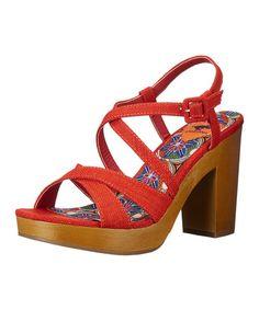 Look what I found on #zulily! Orange Valencia Belize Sandal #zulilyfinds