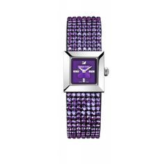 Elis Mini, amethyst ($625) ❤ liked on Polyvore featuring jewelry, watches, accessories, bracelets, swarovski, clear watches, swarovski jewelry, logo watches, swarovski jewellery and glitter jewelry