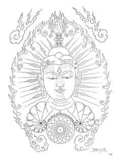 Paradise Tattoo, Gangsta's Paradise, Tattoo Sketches, Drawing Sketches, Drawings, Tibet Art, Oriental Tattoo, Thai Art, Buddha Art