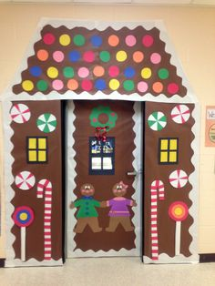 Way cuter than my one from last yr! we shall see how much time i have this time around...Festive Gingerbread House Classroom Door