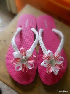 Flower Decorated Flip Flops!    http://korkerkrazy.storenvy.com/collections/81589-flip-flops-big-girl-adult