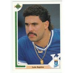 1991 Upper Deck #504 Luis Aquino Kansas City Royals Baseball Card
