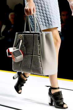 Fendi 2Jours Bag Spring 2013 in Grey with Acrylic 3D exterior