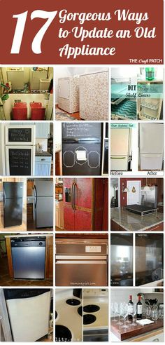 17 Gorgeous ways to update an old appliance ~ if it's still working but ugly, make it pretty!