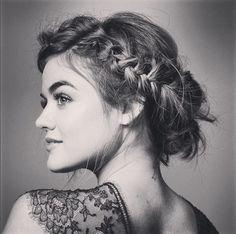 Lucy Hale braided bob