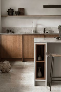 A Kitchen Designed with Contrasting Materials - AMM blog