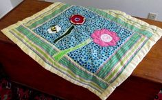 Summer Flowers Modern Quilt by marylandquilter on Etsy, $66.00