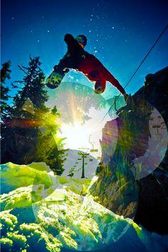 Grind Snow boarding., Tricks forest