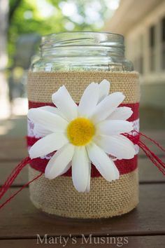 Thrifty Mason Jar Crafts Ideas from Marty's Musings