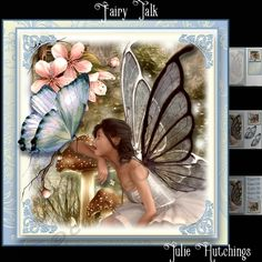 Gorgeous card front kit that has 3 sheets to print cut and assemble to make a stunning card front. The kit includes the card front, layer, cut and fold gift card, insert and topper Butterfly Fairy, Fairy Land, Print And Cut, Projects To Try, Card Making, Kit, Birthday, Frame, Cards