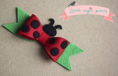 Handmade Ladybird Ladybug Headband Hair Clip Bow by Little Magic Pieces