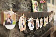 bridal shower photo display (photo by jamie zanotti, styled by becky hart/bow ties and bliss)