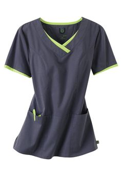 Click Image Above To Purchase: Urbane Sport Princess Seam Scrub Top. Cute Nursing Scrubs, Cute Scrubs, Nursing Clothes, Medical Uniforms, Work Uniforms, Scrubs Uniform, Cute Nurse, Medical Scrubs, Scrub Tops