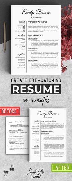 Feminine Resume Template Ginger  Template Resume Cv And