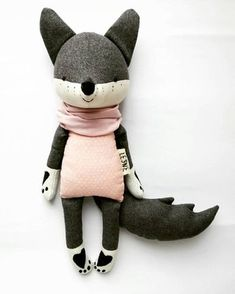 Sleva the wolf is our little rebel with a big heart! Shes always ready to fight for a good cause! Sleva believes every tiny creature has a right to be free and happy! Theres so much courage in this cute wolf! The wolf is made from wool, cotton, stuffed with non-allergenic polyester fiber and