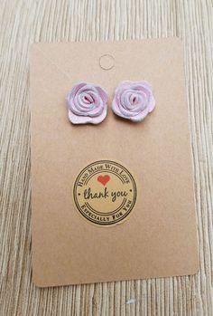 Pink Leather Stud Rose Earrings Rose Earrings, Stud Earrings, Leather Earrings, Pink Leather, Beautiful Hands, Stud Earring, Earring Studs, Pink Earrings