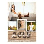 Invite guests in style with this country rustic woodgrain graduation invitation. Rustic wood pattern background and stylish typography sets the stage for an elegant country graduation invitation/announcement. Senior Invitations, Rustic Invitations, Invitation Cards, Party Invitations, Invitation Ideas, Grad Invites, Communion Invitations, Graduation 2016, Graduation Gifts