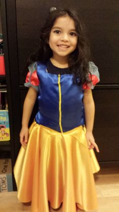 A simple yet creative approach to hand stitching your own DIY Snow White Costume for toddlers. Diy Snow White Costume, Toddler Costumes, Hand Stitching, Desi, Tulle, Asian, Creative, Skirts, Skirt